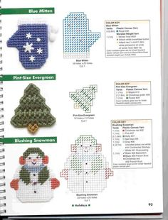 images about plastic canvas Plastic Canvas Ornaments, Plastic Canvas Crafts, Plastic Canvas Patterns, Plastic Craft, Yarn Crafts, Bead Crafts, Blue Mittens, Christmas Cross, Christmas Ornaments