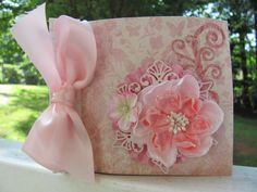 Shades of Pink Shabby Chic Mini Album by GrandNichols on Etsy, $24.00