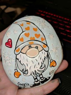 Easy and Fun Christmas Crafts for Toddlers – Painted Rocks - DIY Christmas Ideas Pebble Painting, Pebble Art, Stone Painting, Rock Painting Patterns, Rock Painting Designs, Christmas Crafts For Toddlers, Toddler Crafts, Stone Crafts, Rock Crafts