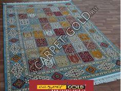Купить персидский ковер «Абришим 3803 Blue Blue» коллекции «Abrishim» в интернет…