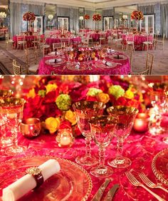 Red & Gold Wedding Theme