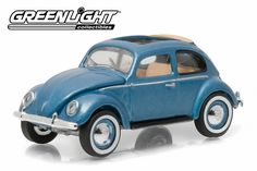 Greenlight Club V-Dub 3 1951 VW Type 1 Split Window Beetle Azure Sunroof From Sportsamerica Sports Cards. Rubber Tires, Diecast Model Cars, Metallic Blue, Vw Beetles, Type 1, Volkswagen, Windows, Club, Exterior