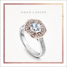 A symbol of your blossoming love.  Take a closer look at this engagement ring from Noam Carver's floral collection.  Rose and white gold engagement ring.