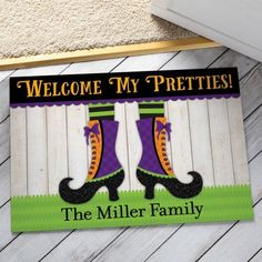 personalized welcome my pretties doormat - Personalized Halloween Decorations