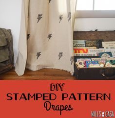 DIY Stamped Curtains - How to Create Custom Curtains - Bonus Adorable Ron Swanson Nursery