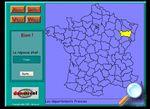 GéoKid  logiciel d'apprentissage de la géographie administrative de la France, les départements, les régions, les préfectures.