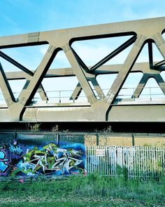 The one where there is a pretty cool bridge and #graffiti ....