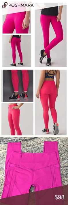 Lululemon All The Right Places Pant In Rasp NWT These medium rise, cross-sport pants have you covered in all the right places. Full on luxtreme panels add strategic support while lightweight luxtreme fabric panels let you move freely. 2nd pic is same style just different color. Technical fabrics with added Lycra fibre are sweat wicking and four way stretch. Zip free pockets help keep floor workouts comfortable. No front seam, held in sensation. NWT. All reasonable offers are welcome! Please…