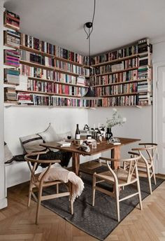7 Small Space Tricks To Learn From A Light-Filled Stockholm Family Home (my scandinavian home) House Design, Eclectic Home, Home And Living, House Interior, Home, Interior, My Scandinavian Home, Dining Nook, Home Decor