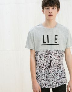 T-shirt cortes Flowers/Life/Camu - T-shirts - Bershka Portugal