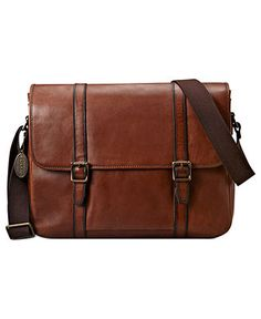 Fossil Estate East West Messenger Bag - Bags & Backpacks - Men - Macy's - Great Fathers Day gift for techy dads