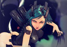 4 Vivid Sci-fi Female Illustrations - Concept art, Illustrations, Sci-fi