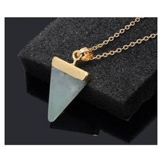 handmade Jewelry Pendant Jade Pendant Green Jade Necklace Point... ($33) ❤ liked on Polyvore featuring jewelry, heart pendant, green jade pendant, chain pendants, gold filled jewellery and gold filled jewelry