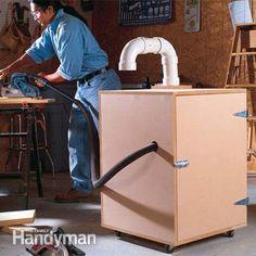 Muffler box for air compressor or vacuum - Workshop Organization Tips