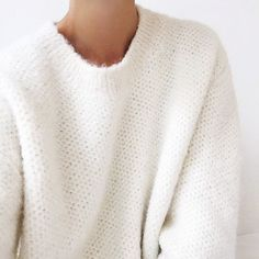 Cosy white fluffy sweater for those winter nights!