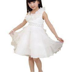 Fanessy Rosa Blumenmädchen Hochzeit Partei #Kommunion kleid kostüm mädchen kinder Prinzessin-Hochzeit Kleid kostüm mädchen: Amazon.de: Bekleidung