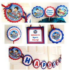 Paw Patrol Party   - Garland https://www.etsy.com/listing/182375251/12-2-paw-patrol-bottle-cap-images?ref=shop_home_active_2
