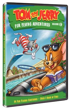 Tom and Jerry: Fur Flying Adventures Volume 2 on DVD{ Giveaway} - 2 Boys + 1 Girl = One Crazy Mom Tom Und Jerry, Tom And Jerry Show, Disney Toms, Childhood Movies, Cat Mouse, Surfer, Animated Cartoons, Vintage Comics, Old Art