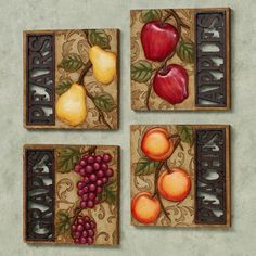 Merveilleux Fruit Art For Kitchen | Fruit Wall Art | Kitchen Ideas