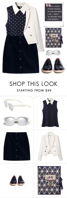 """""""College girl"""" by oliverab on Polyvore featuring Yves Saint Laurent, A.P.C., MANGO, Armani Collezioni, Emma Watson, Polaroid and Olympia Le-Tan"""