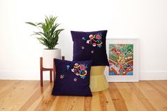 With so many online interior retailers out there selling such an extensive array of homewares, it's truly special when you come across a brand that specialises in handmade items. Cushion Cover Designs, Cushion Covers, New Product, Product Launch, Hello To Myself, Embroidered Cushions, How To Introduce Yourself, My Friend, Decorative Pillows