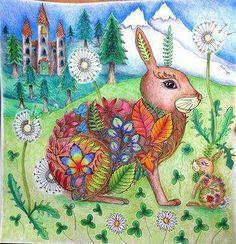 Enchanted Forest Book Coloring Art Adult Pages Joanna Basford Johanna Secret Garden