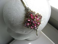 Pastel pink rhinestone headband Lilac rhinestone by 2007musarra, $42.99 Rhinestone Headband, Wedding Headband, Pastel Pink, Lilac, Vintage Headbands, Cool Items, Spring Wedding, Etsy, Jewelry