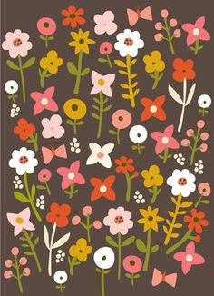 CARDS :: NEW!Daisies Brown - Ecojot - eco savvy paper products