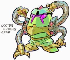 GUNDAM GUY: GUNDAM x MARVEL SUPER HEROES - Digital Fan-Arts By 油屋とんび  DOCTOR OCTOPUS ZOCK