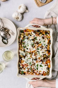 This Baked Ziti With Roasted Eggplant is a vegetarian pasta dish layered with homemade tomato basil sauce and ricotta and mozzarella cheese.