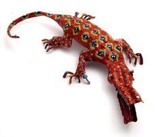 African folk art crocodile from Zimbabwe