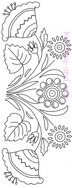 floral embroidery design