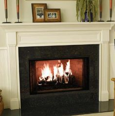 Another white fireplace