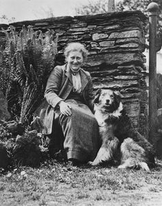 Beatrix Potter with her sheepdog Kep. Credit: National Trust