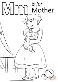 Letter F is for Friends coloring page from Letter F