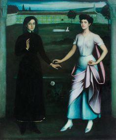 Julio Romero de Torres. 'Amor sagrado, amor profano', 1908. Óleo y temple sobre lienzo, 168 x 141 cm. Fundación Cajasur