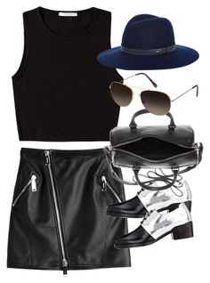 """Inspired outfit for drinks with friends"" by whathayleywore ❤ liked on Polyvore featuring Dsquared2, Pieces, 3.1 Phillip Lim, Yves Saint Laurent and rag & bone"