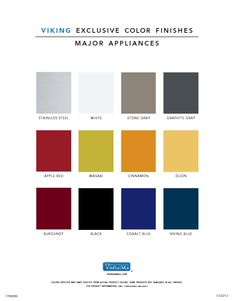 Viking has a wide selection of appliance color options to fit your style.