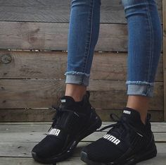 51 Tennis Shoes That Will Make You Look Great - Women Shoes Trends Sock Shoes, Cute Shoes, Me Too Shoes, Shoe Boots, Puma Sneakers, Shoes Sneakers, Black Sneakers, Shoes Sandals, Puma Ignite Limitless
