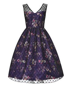 Another great find on #zulily! Purple Floral Aliza A-Line Dress #zulilyfinds