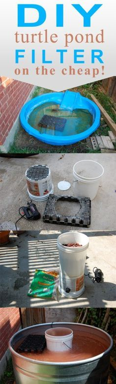 Diy biofilter for a small fish pond garden pinterest for Make your own pond filter box