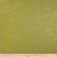 """This upholstery weight faux leather fabric has a new wool flannel backing and can be used for upholstery projects, picture frames, pillows, headboards craft projects, purses, fashion accessories and more! California residents click <a href=""""http://prop65.fabric.com/"""">here</a> for Proposition 65 information. Colors include citrine green and silver."""