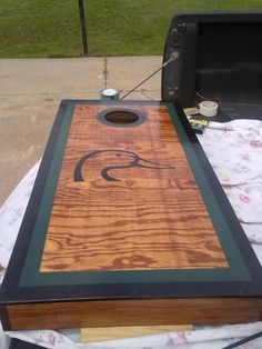 Home made corn hole board if it has this DU or the browning logo I think E would fall in love with me all over again.. maybe dad will help me make these for him for Xmas...