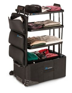 This Luggage With Built-In Shelves Will Change Your Travel Game