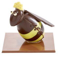 Milk Chocolate Bumble Bee Easter Egg / Abeille en chocolat Lait Oeuf de Pâques / Collection Les Abeilles : chocolats de Paques originaux