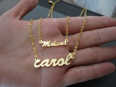 Personalized Mini Gold Name Necklace by SpeciallyForU on Etsy, $20.00