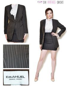 Image result for 1970s office suit skirt