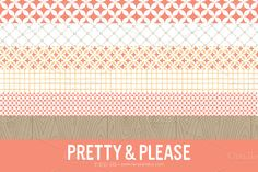 Check out Pretty & Please Patterns (Clipart) by LaRue & Company on Creative Market