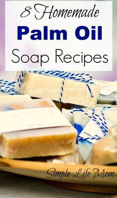 These 8 homemade Palm Oil Soap Recipes will make a great hard bar with a creamy lather that will last longer. Sustainable Palm oil and palm kernel oil can be used in place of tallow to make great vegan soap. Diy Soap Natural, Diy Bathroom, Soap Making Supplies, Homemade Soap Recipes, Homemade Bar, Vegan Soap, Cold Process Soap, Soap Molds, Home Made Soap