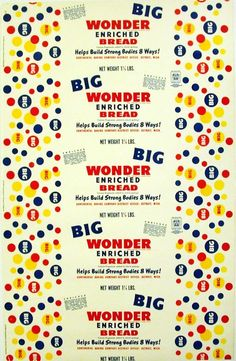 Old bread wrapper WONDER BIG dated 1948 Detroit Michigan unused new old stock picclick.com